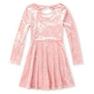 Children's Place Velour Pink Sparkle Dress